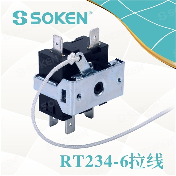 7 Pozícia otočného prepínača pre ventilátor (RT234-6)