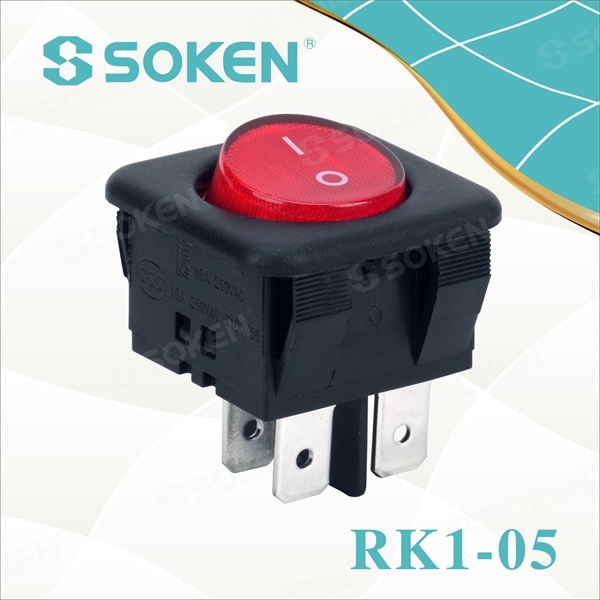 DPDT Okrogla Rocker Switch