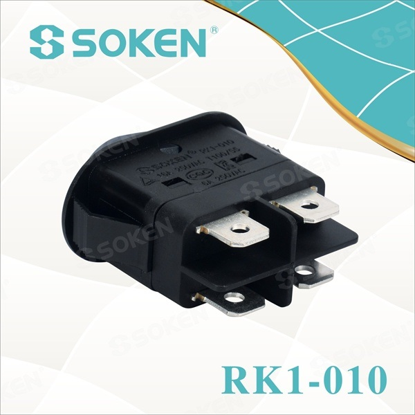 Dpst Light Rocker Switch with Kc Certificate 16A 250VAC