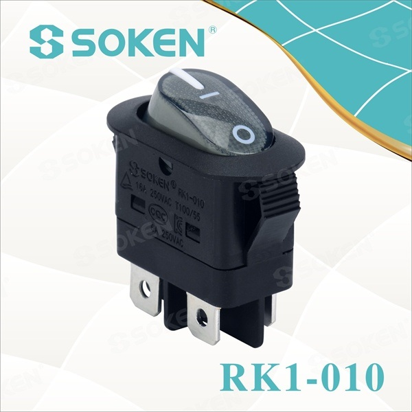 DPST Luz Rocker Switch con Kc certificado 16A 250VAC