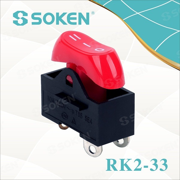 Saç Kurutma Makinesi Rocker Switch / Mini Anahtarı T85 10A 250VAC on-off-on