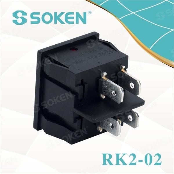 Illuminated Rocker Switch 10A 250VAC