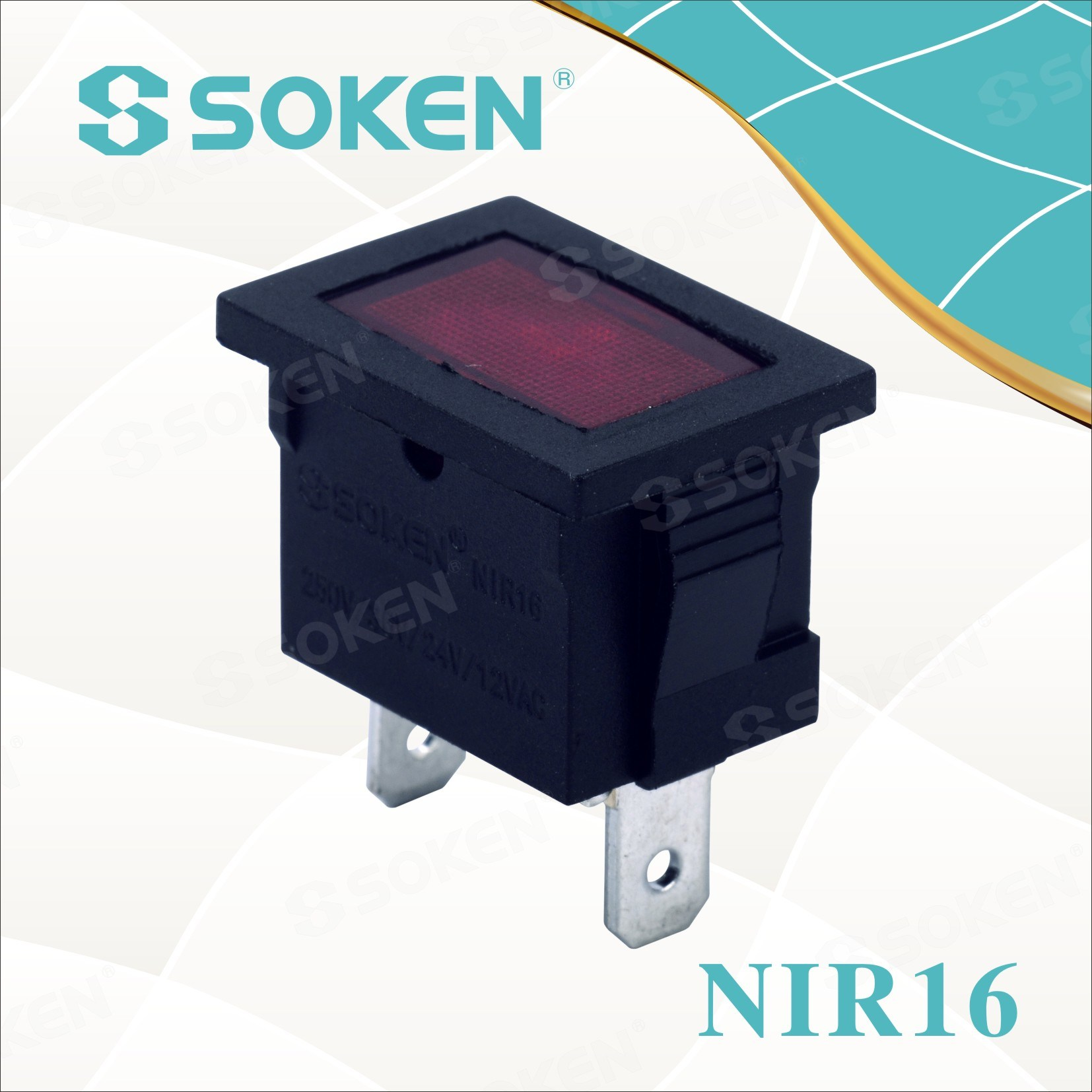 Nir16 12V/24V Miniature Indicator Light with Rice Bulb 21*15mm