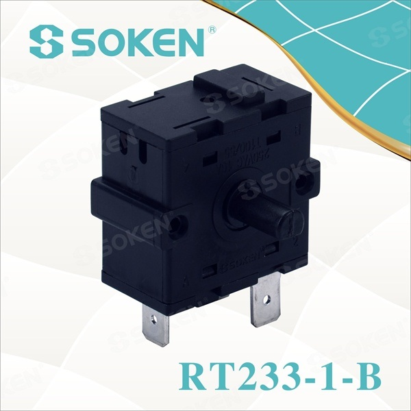 Nylon Rotary switch cu 4 poziții (RT233-1-B)