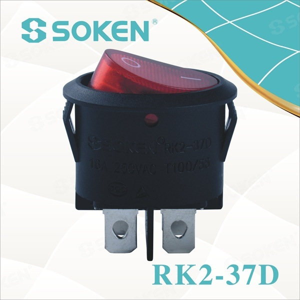 Ovalni Rocker Switch 4pin