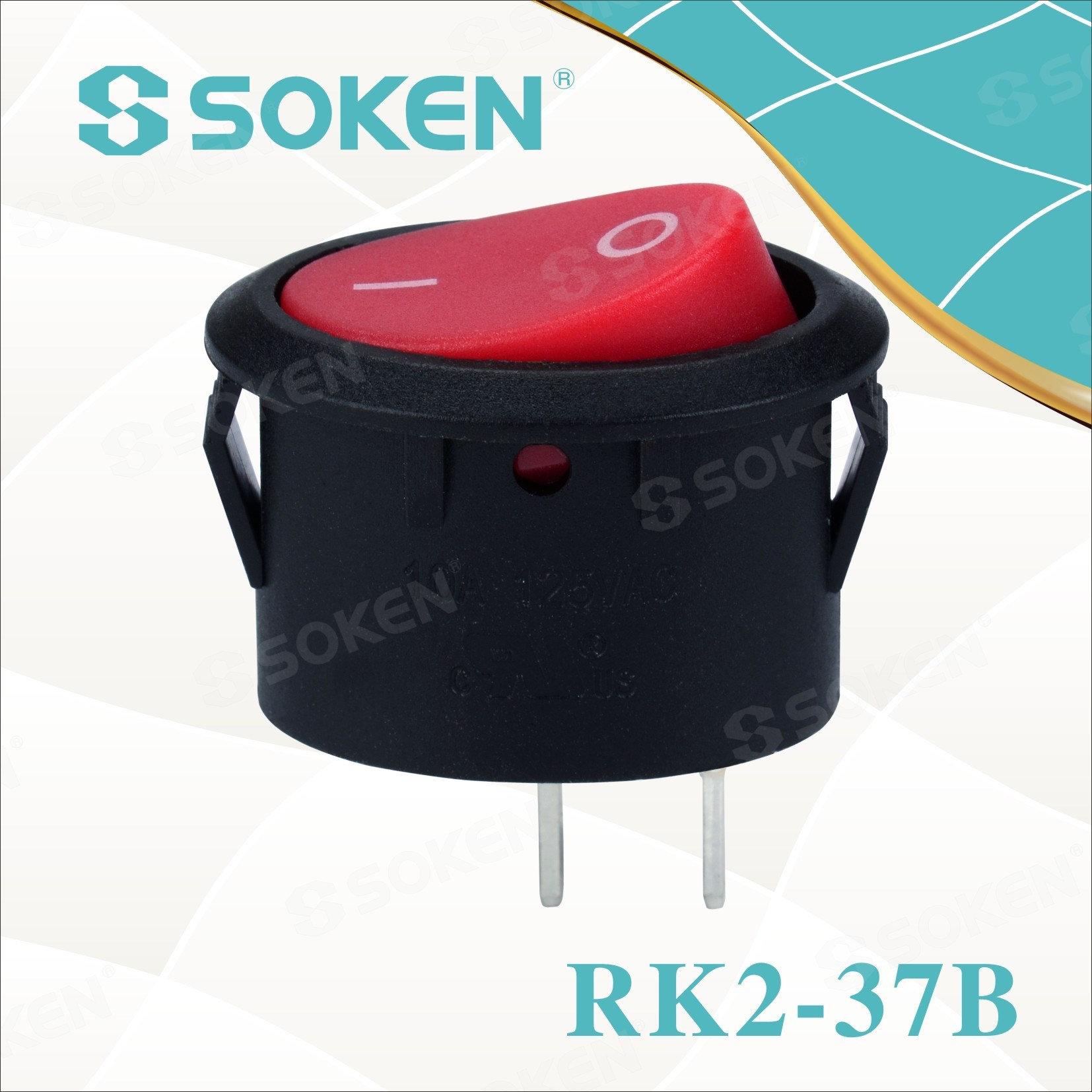 Ovaal Rocker Switch Rk2-37b