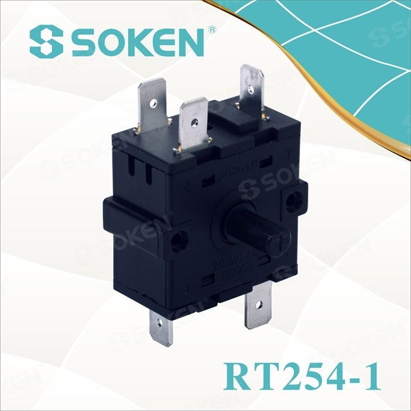 Power Rotary Switch med 6 Position (RT254-1)