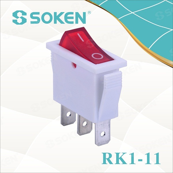 Rk1-11 Home Appliances Electric Rocker Switch T85 off İşıqlandırma