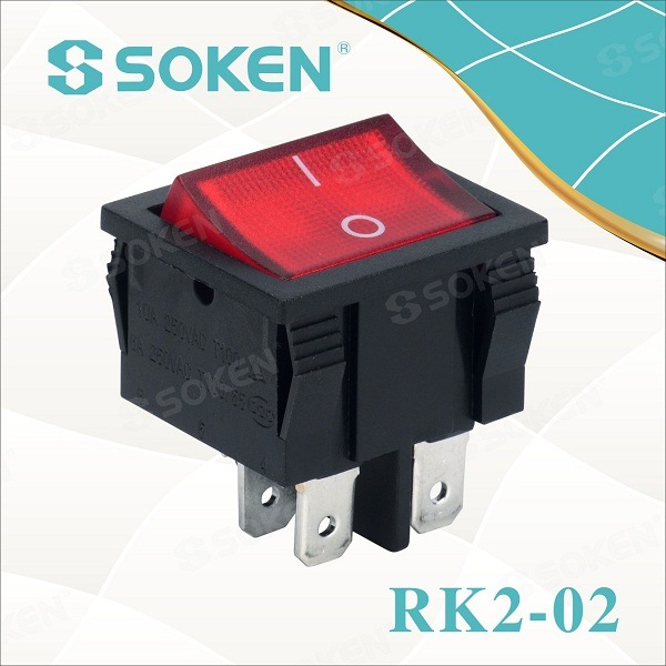 Rk2-02 na off 6. Pins Rocker Switch CQC