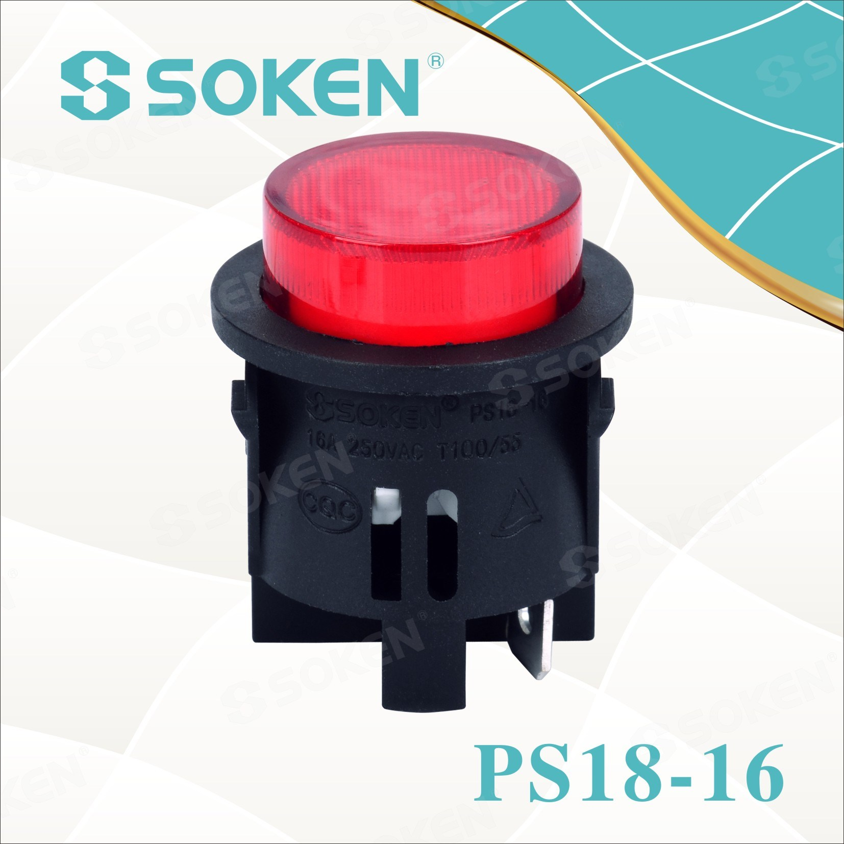 Ka murugeeysan dib Light Round Button Switch 1 Pole