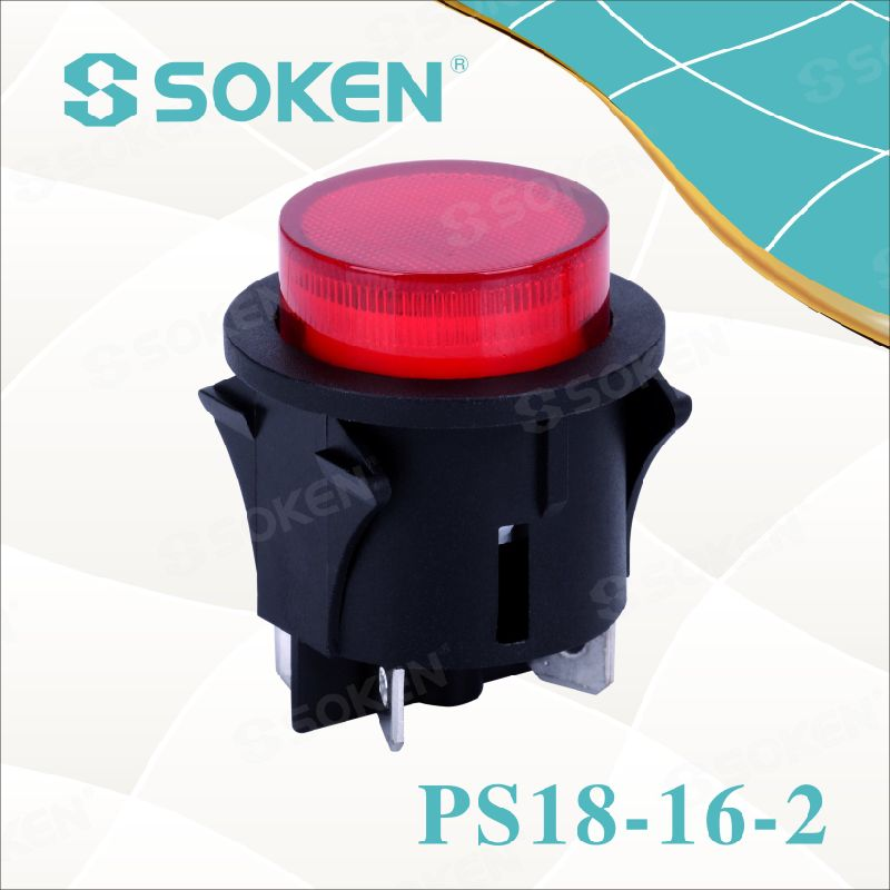 Round Light Push Button Switch