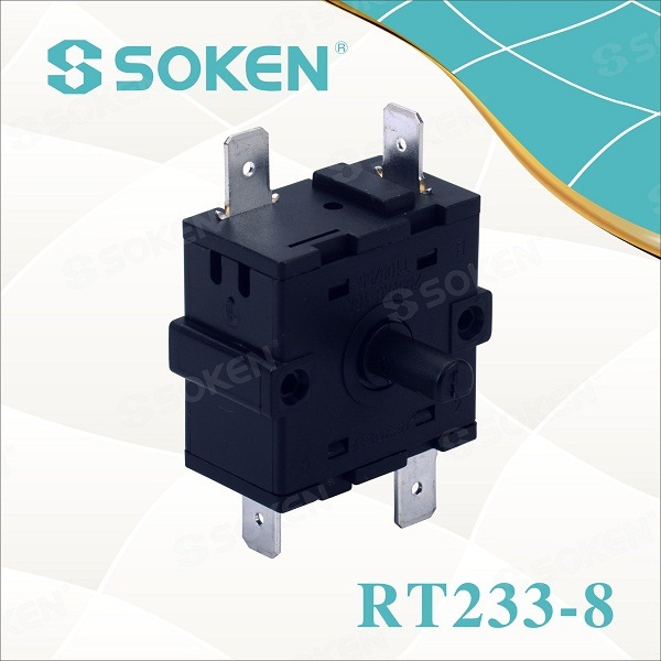 Soken 3 Way Change Over Rotary Beralih 250V 5e4 Rt233-8