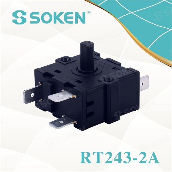 Soken Appliance Electric 5 Position Rotary Selector Switch 16A 250V