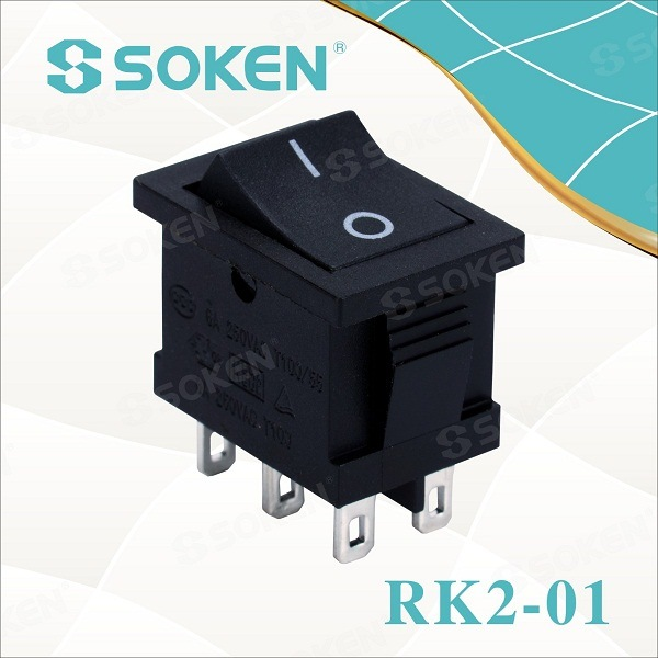 Soken Dvostruki pol TUV VDE ENEC Rocker Switch T85