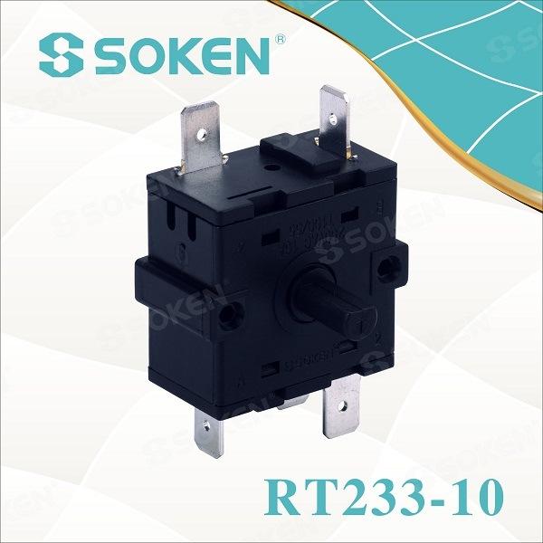 Soken elektrik chofaj 4 Pozisyon ti Rotary switch 16A 220V