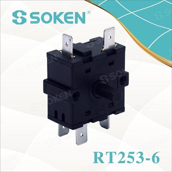 Soken Electric umshini Knob 6 Isikhundla Shintsha rotary Ktl Rt253-6