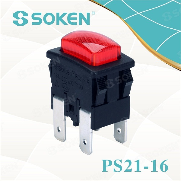 Soken Garment Parobrod Push Button Switch 2 Pole