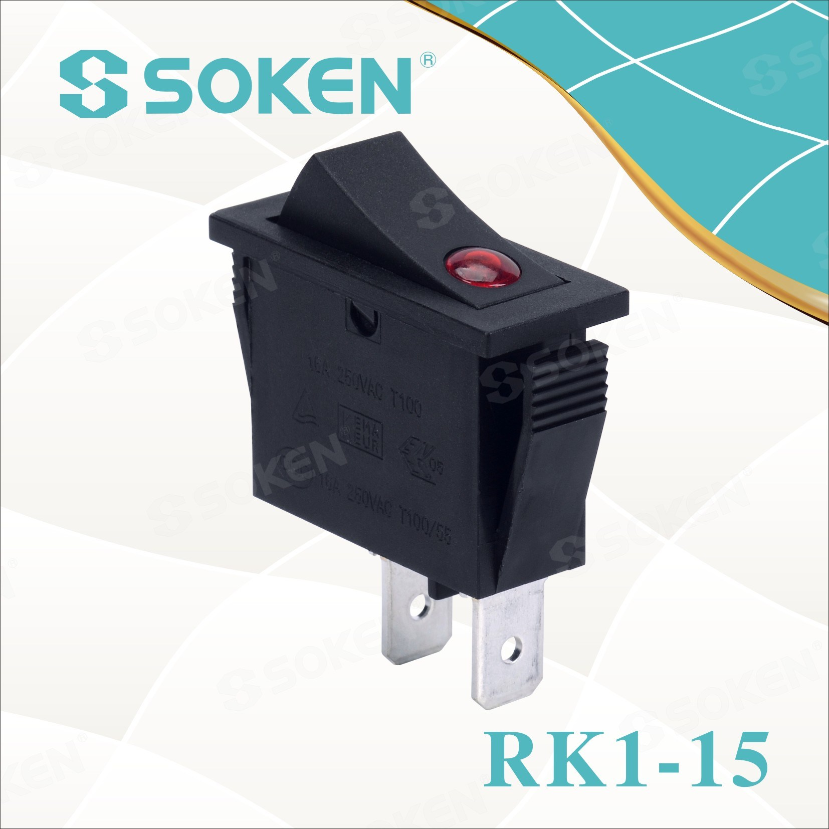 Soken Rk1-15 1x1 B / B fuq Rocker barra Switch