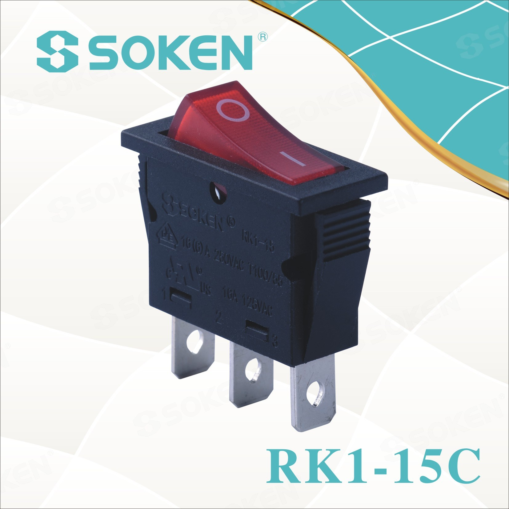 Soken Rk1-15c Voda Dokaz Rocker Switch