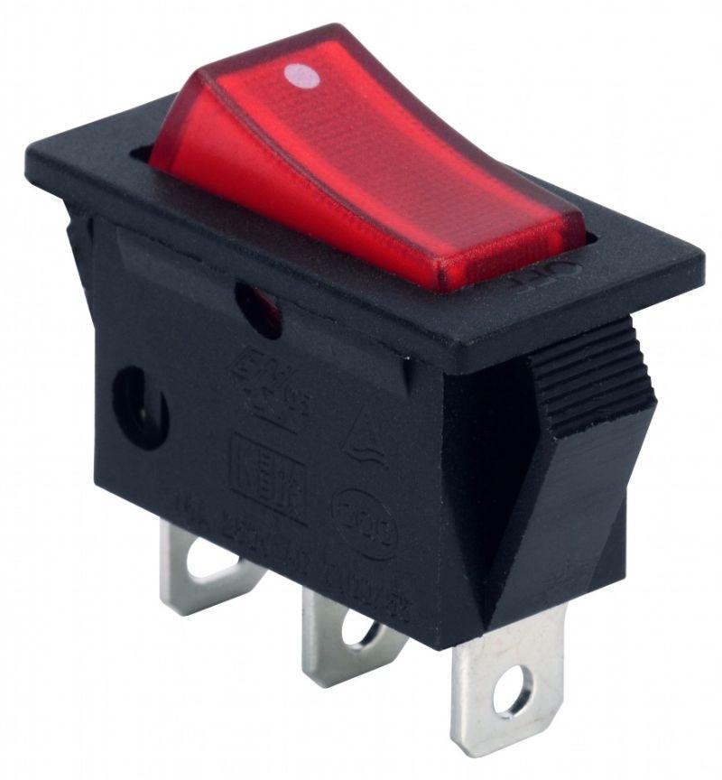 Soken Rk1-17A 1X1n Red on off Illuminated Rocker Switch