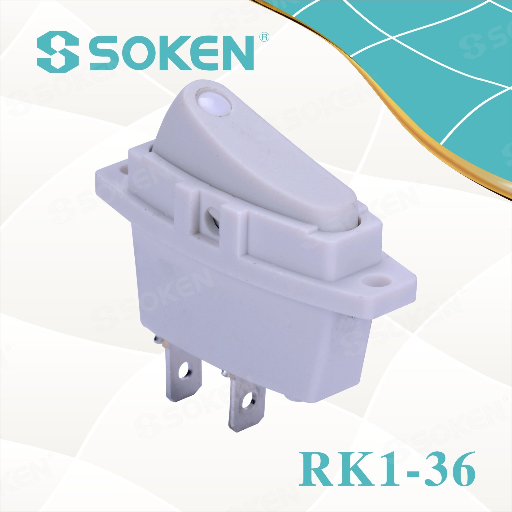 Soken Rk1-36 1X1 on off interruptor Rocker