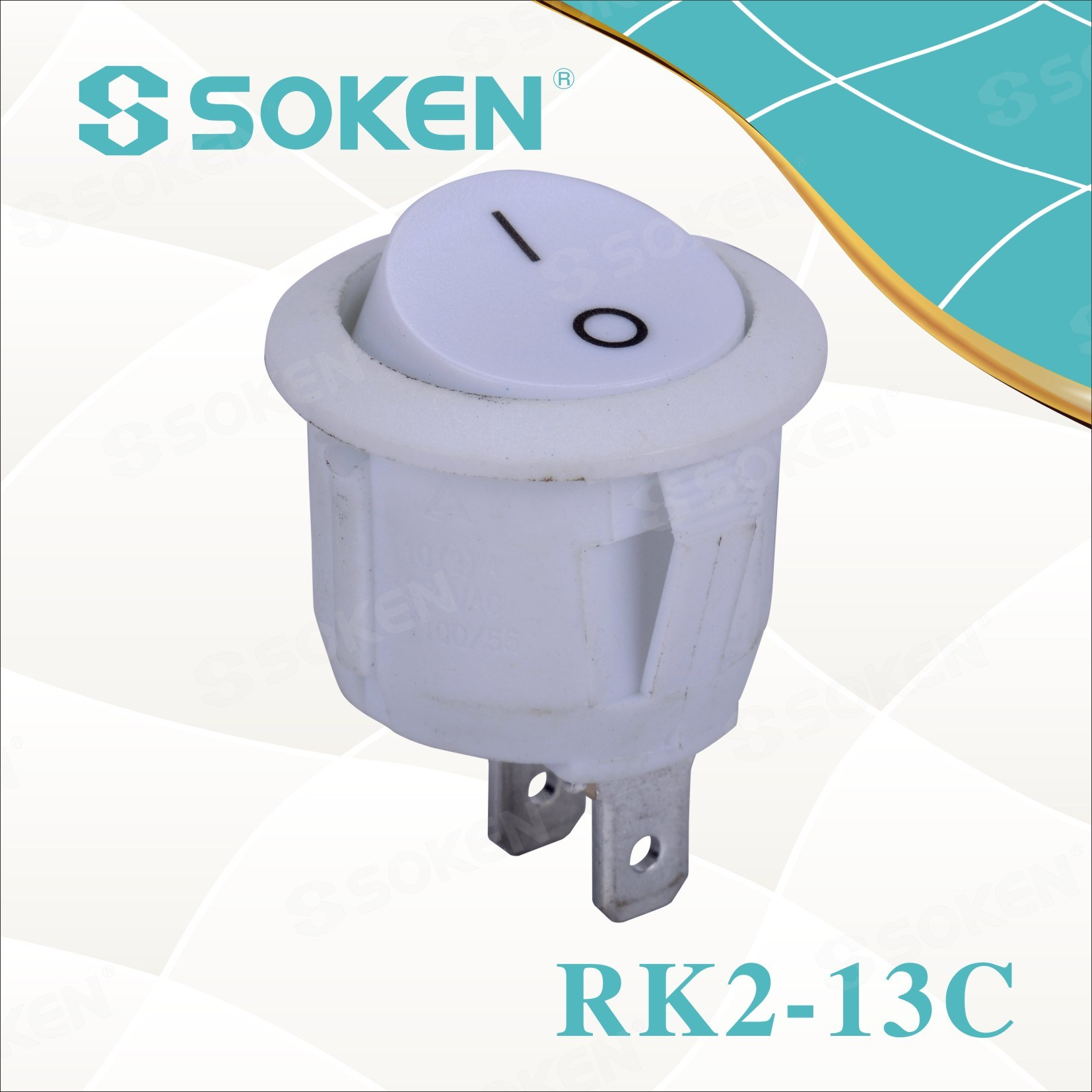 Gisus-an! Rk2-13c Round rocker Switch