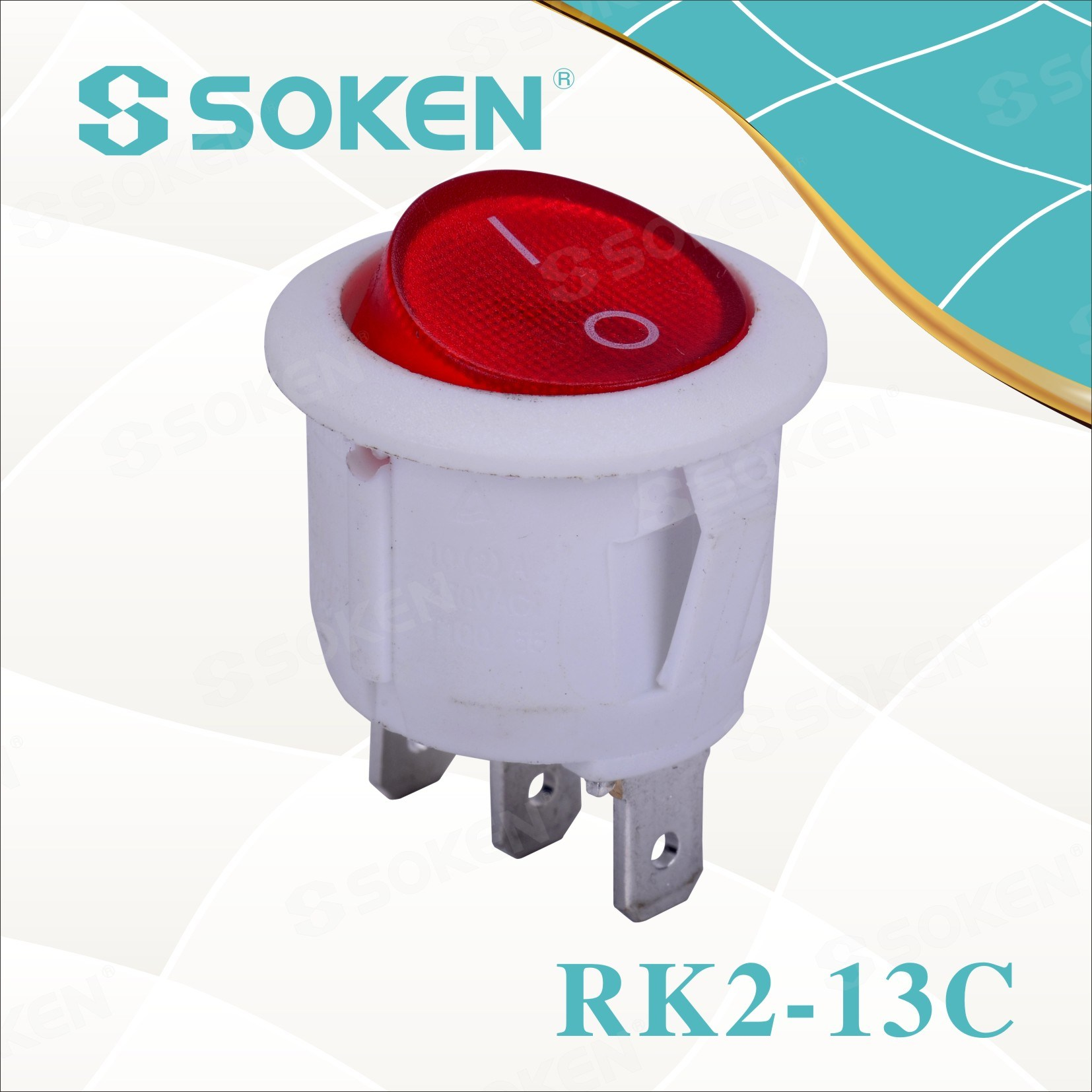 Soken Rk2-13c Kolo na off Rocker Switch