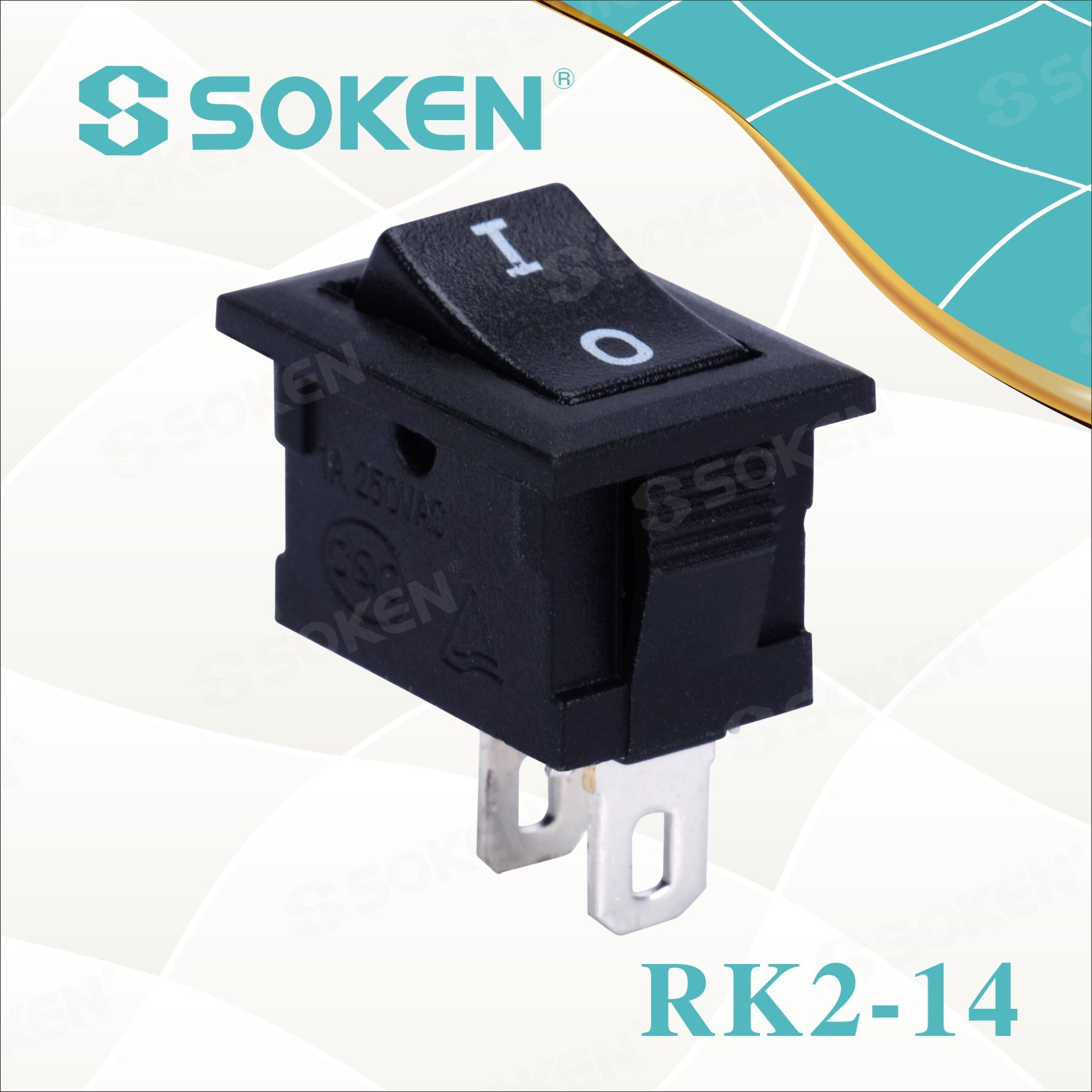 Söke'nin Rk2-14 1X1 Electric Rocker Switch