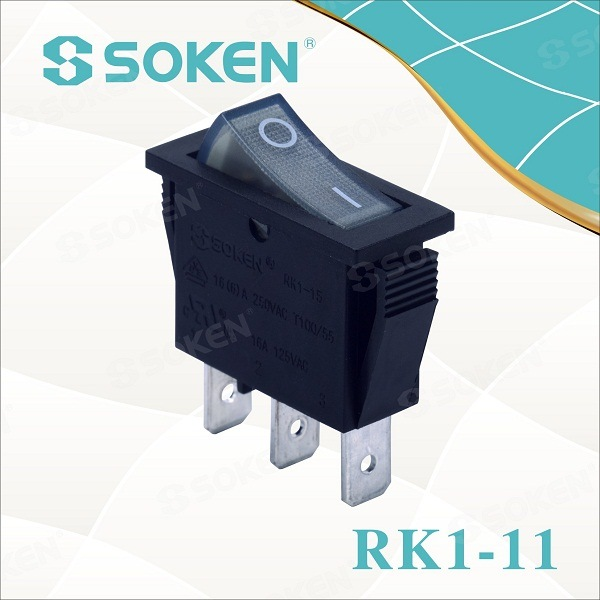 Soken RoHS UL Snap in Rocker Switch T85 / Defond Lasca
