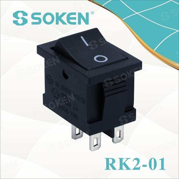 Soken Singilte Pole TUV VDE ENEC Rocker Switch T85