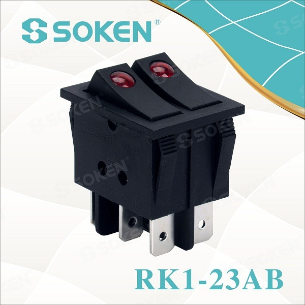 Soken Switches CQC T100 / 55 Rocker مڙو Kema Keur مڙو