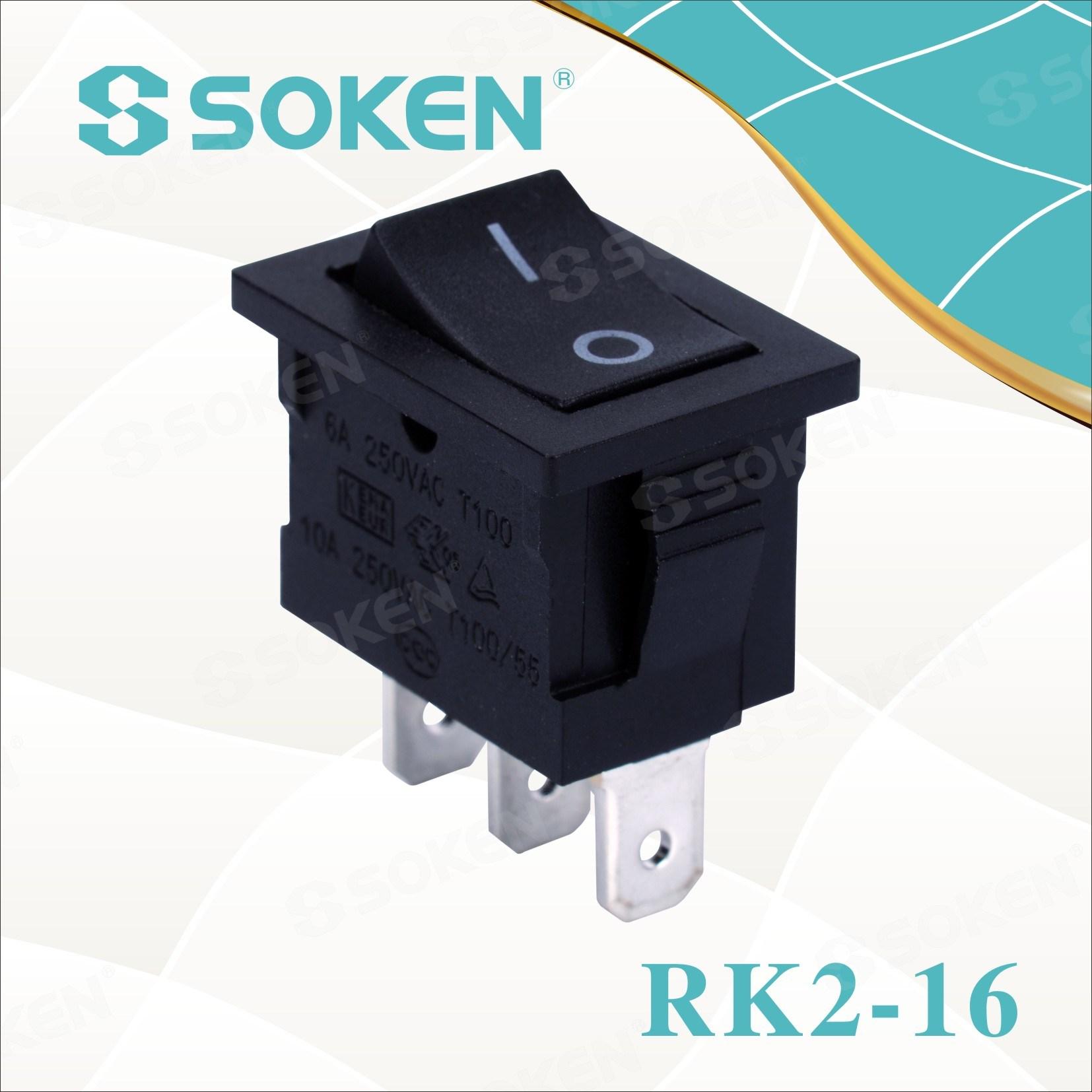 Sokne Rk2-16 1X2 li ser Rocker Switch