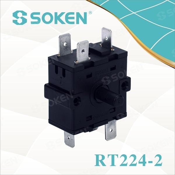 Momentary Rotary Switch með 3 stöðum (RT224-2)