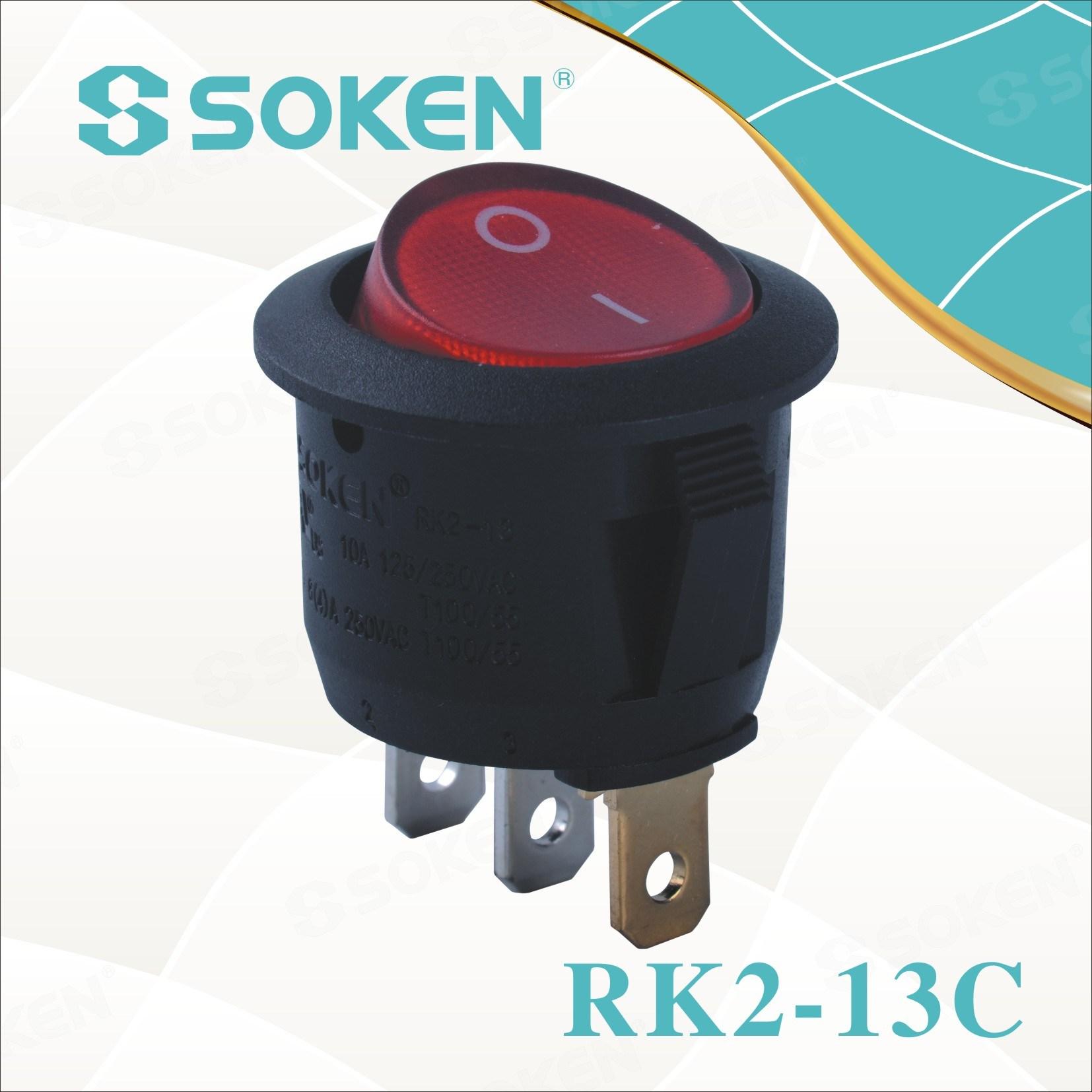Soken Rk2-13c 1X1n Round on off Rocker Switch